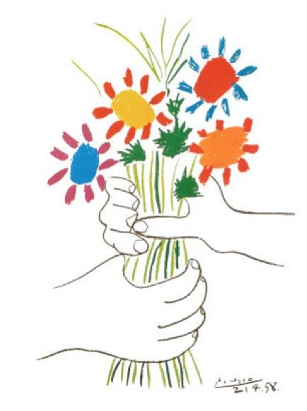 Mains aux Fleurs - Picasso